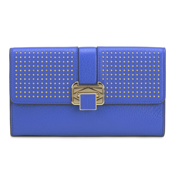 Rebecca Minkoff Women's Coco Leather Clutch Bag with Studs - Bright Blue