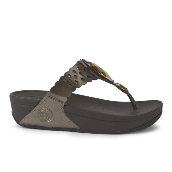 FitFlop Women's Bijoo Leather Sandals - Bronze
