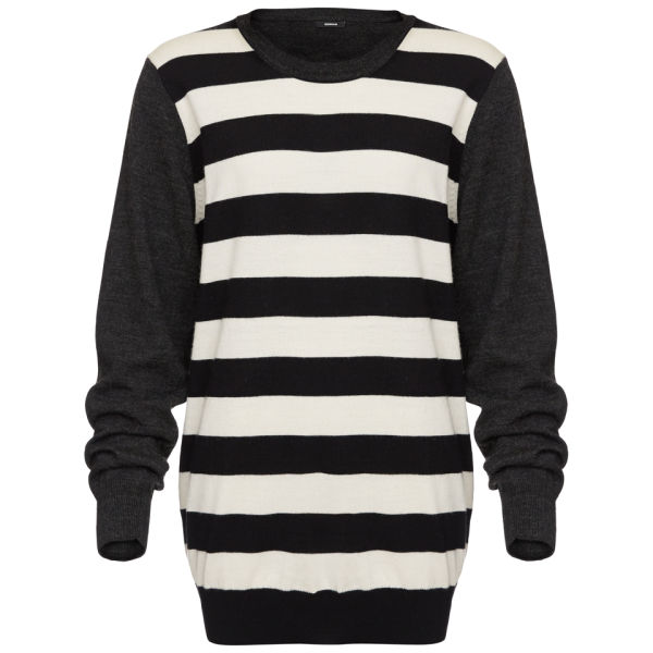 Denham Women's Striped IOWA Jumper - Grey Marl