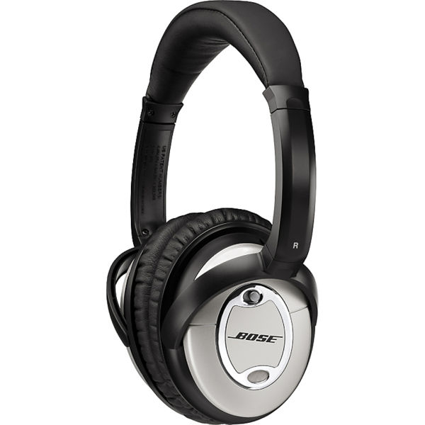 Bose Quiet Comfort 15 Acoustic Noise Cancelling Headphones (Including Mic) - Black/Silver | IWOOT