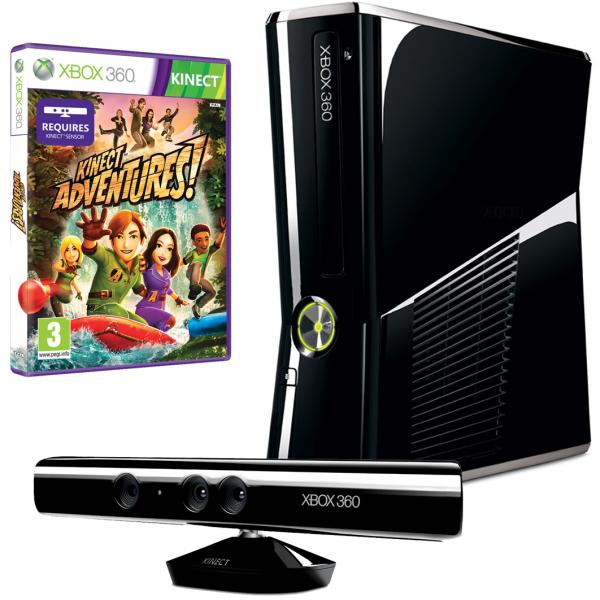 Xbox 360 250gb bundle includes kinect sensor and kinect adventures games consoles - Xbox 360 console with kinect ...