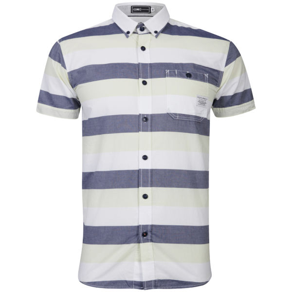Jack & Jones Mens Bobo Shirt   Federal Blue/Optical White      Mens Clothing