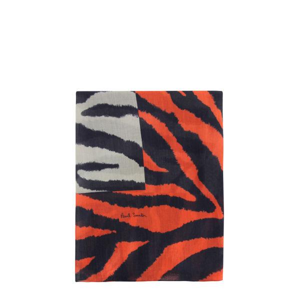 Paul Smith Accessories Women's 387B-S501 Summer Zebra Scarf - Red & Grey