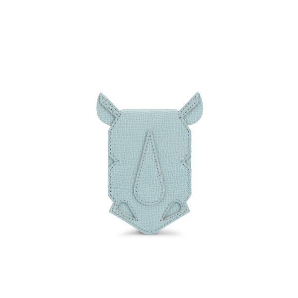 Orla Kiely Rhino Purse Mini Leather Cross Body Bag - Cloud