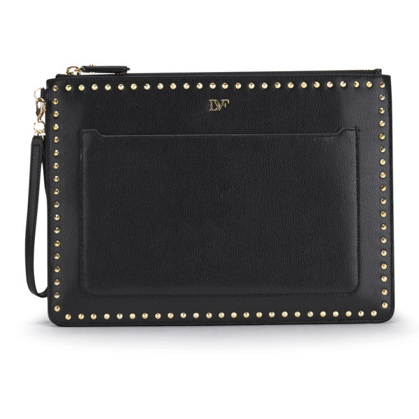 Diane von Furstenberg Women's Zip and Go Wristlet Pouch - Black