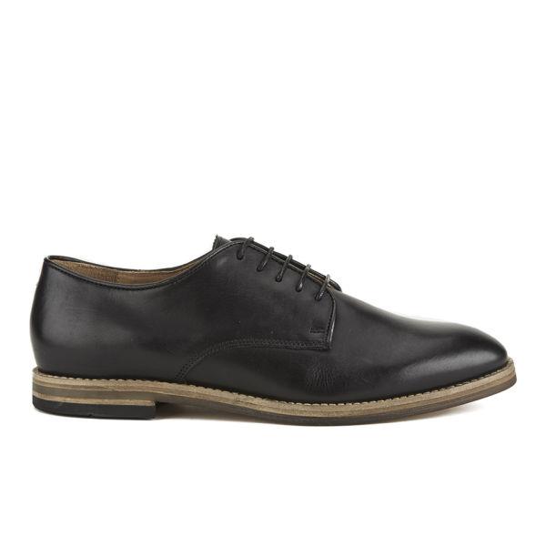 H Shoes by Hudson Men's Hadstone Leather Plain-Toe Shoes - Black