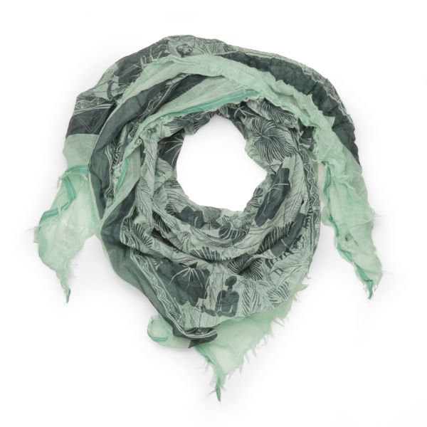 Maison Scotch Women's Botanical Print Scarf - Green