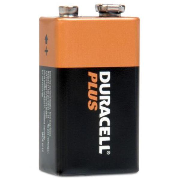 Duracell plus batteries duracell 9 volt iwoot for Porta batteria 9v