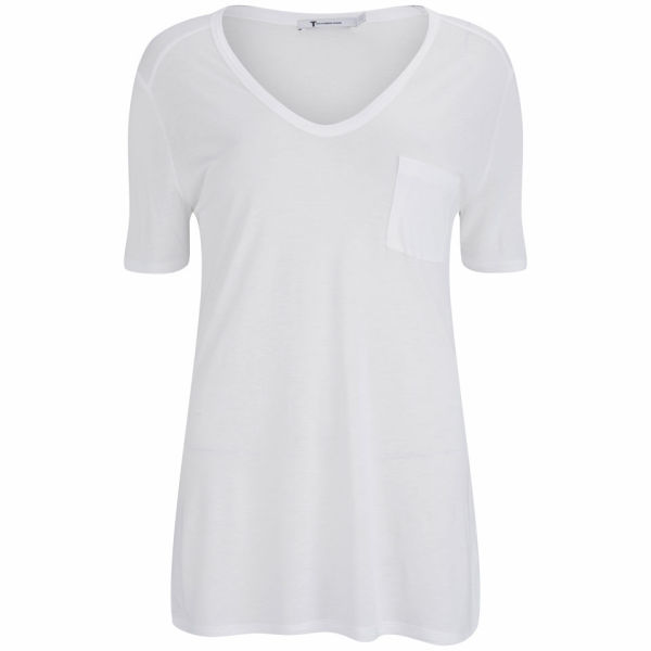 T by Alexander Wang Women's Pocket T-Shirt - White