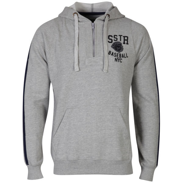 Soul Star Men's Yale Hoody - Grey Melange