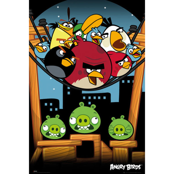 Angry Birds On A Wire - Maxi Poster - 61 x 91.5cm | SOWIA