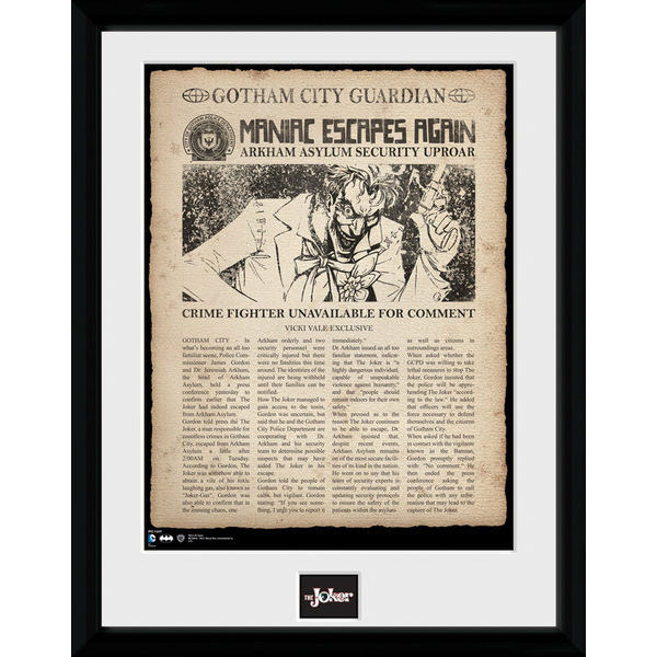 DC Comics Batman Comic Joker Escpaes - Framed Photographic - 16 x 12inch