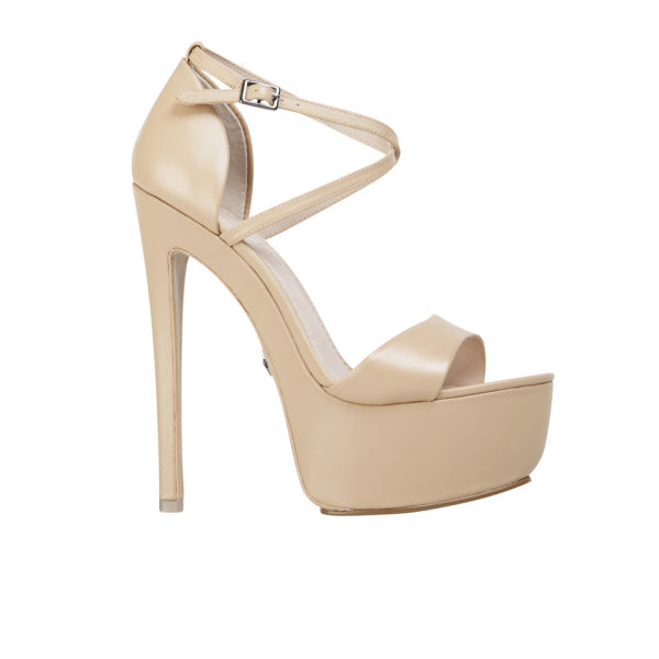 KG Kurt Geiger Women's Nanette Leather Heeled Platform Sandals - Nude