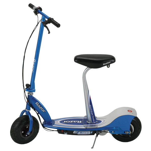 Razor e300s seated electric scooter blue toys for Toys r us motorized scooter