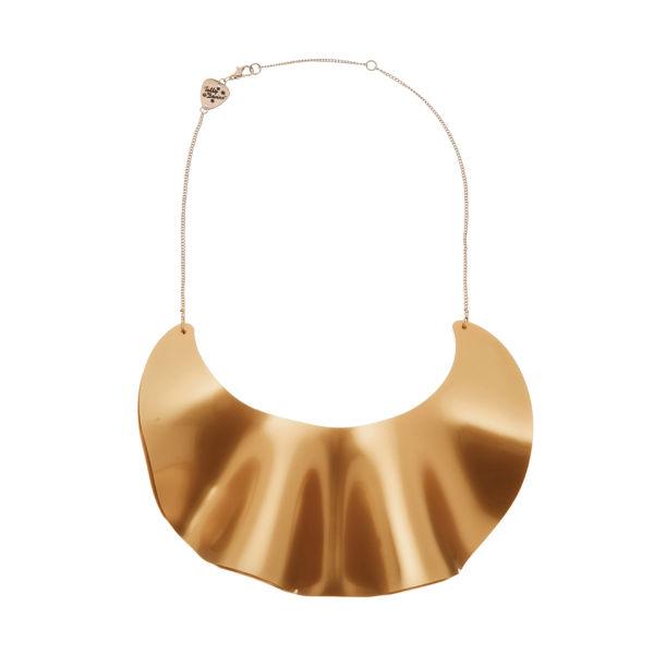 Tatty Devine Ruffle Waves Bib Necklace - Gold