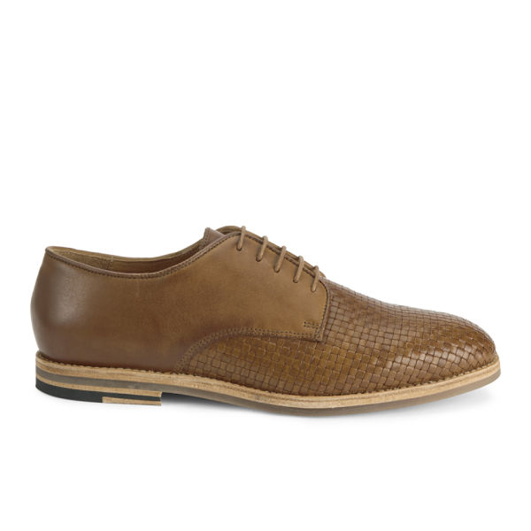 H Shoes by Hudson Men's Hadstone Leather Woven Shoes - Tan