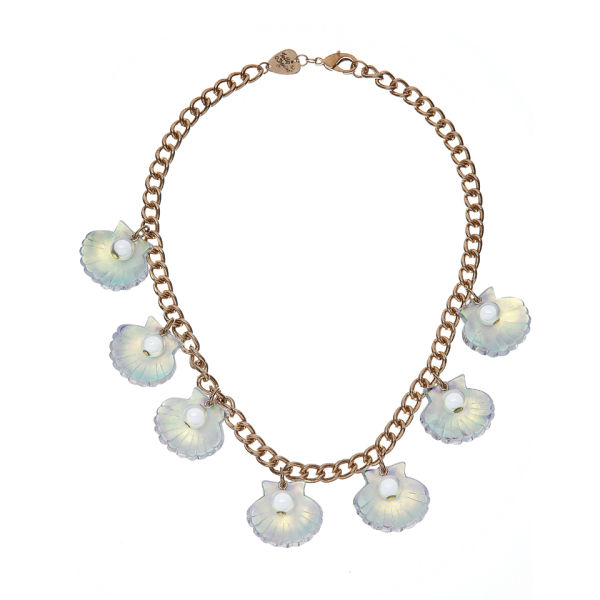 Tatty Devine Scallop Shells Necklace - Pearl Iridescent