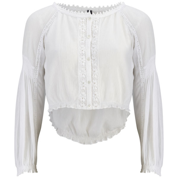 HIGH Women's Coincide Embroidery Detail Shirt - White