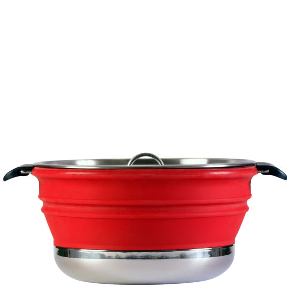 Collapsible Cooking Pot Red Iwoot