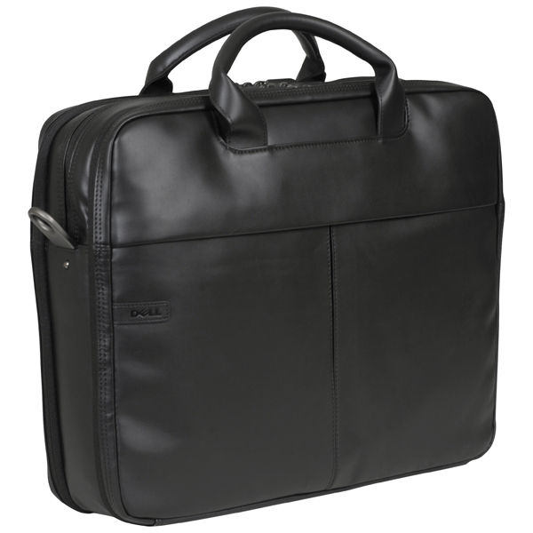 Dell Deluxe Black Leather 15 6 Inch Laptop Bag W0fct