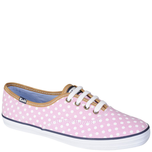 Keds Polka Dot Champion Oxford Pumps - Pink/White