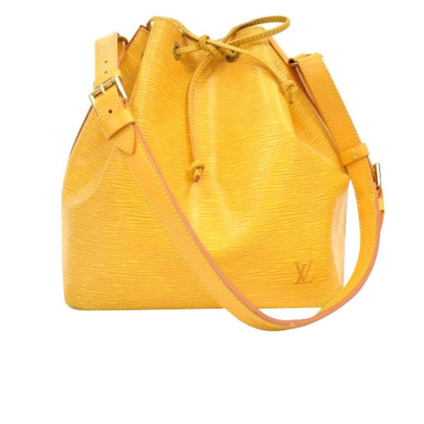 Louis Vuitton Vintage Yellow Epi Leather NOE Petit Shoulder Bag