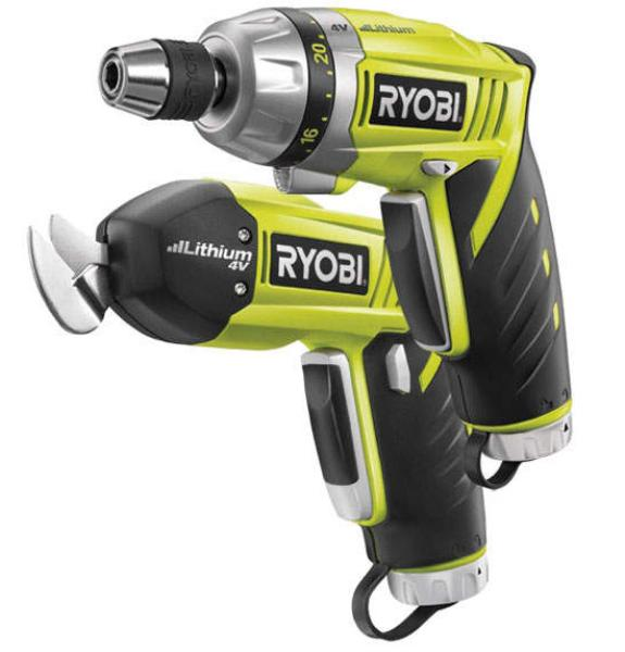 Ryobi Green 4v 2 Piece Screwdriver And Snipping Set