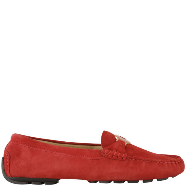 Home Lauren by Ralph Lauren Women's Carley Suede Loafers - Bright Red