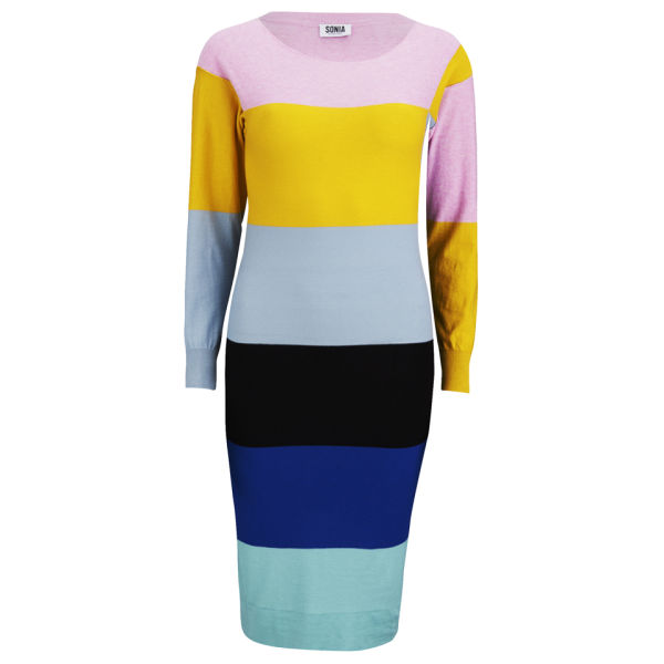 Sonia by Sonia Rykiel Women's Striped Knit Midi Dress - Multi