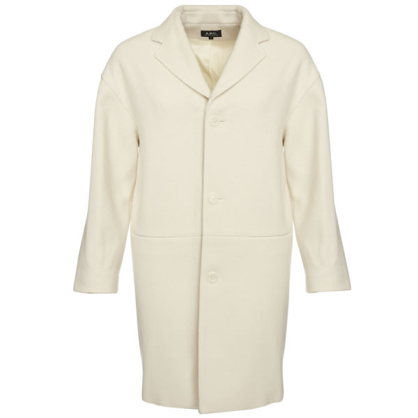 A.P.C. Women's Felted 50's Coat - Ecru