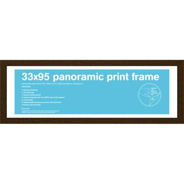Walnut Frame Panoramic - 33 x 95cm