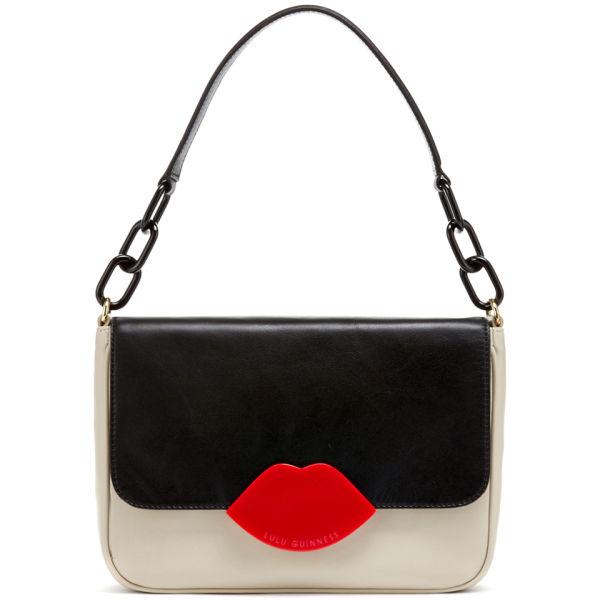 Lulu Guinness Women's Large Annabelle Colour Block Leather Bag - Black/Stone