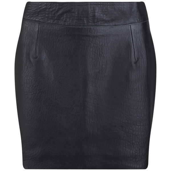Lot 78 Women's Leather Skirt - Black