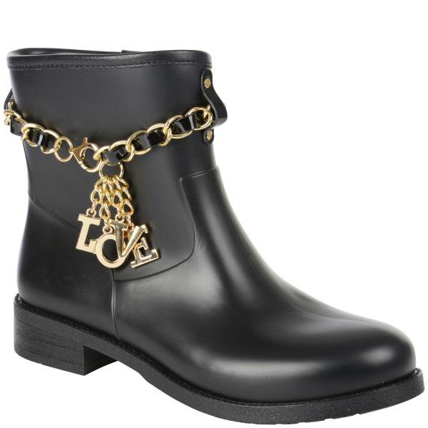 Love Moschino Women's Short Rain Boots - Black