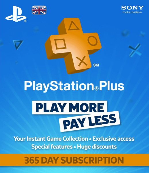 Playstation Plus Card 1 Year Subscription Ps4 Zavvi Com