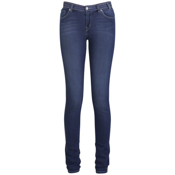 Paul by Paul Smith Women's Skinny Mid Rise Jeans - Inky Blue