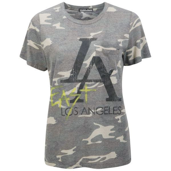 Prince Peter Women East LA Crew T-Shirt - Camo
