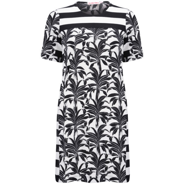 See by Chloe Women's Printed Jersey Dress - Black/White