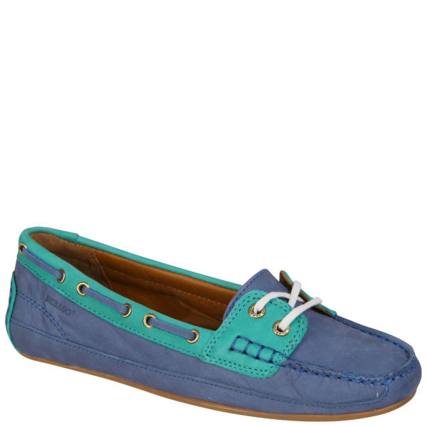 Sebago Women's Bala Moccasin Boat Shoes - Blue/Teal Green