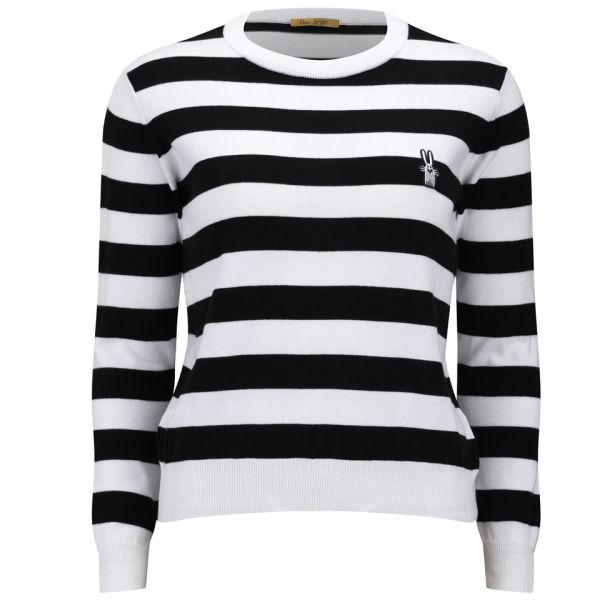 Peter Jensen Women's Stripe Crew Neck - Black/White