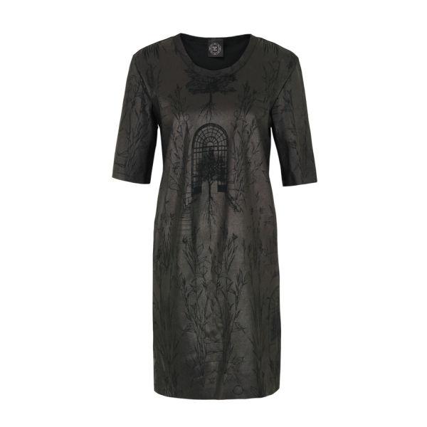 Draw In Light Women's 5 Gloss Tee Dress - Black