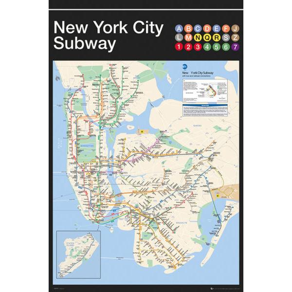 New York Subway Map - Maxi Poster - 61 x 91.5cm