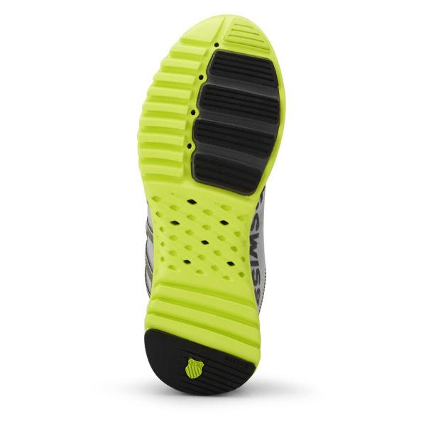 Swiss Men's Blade-Light Running Shoes - Silver/Charcoal/Volt Green