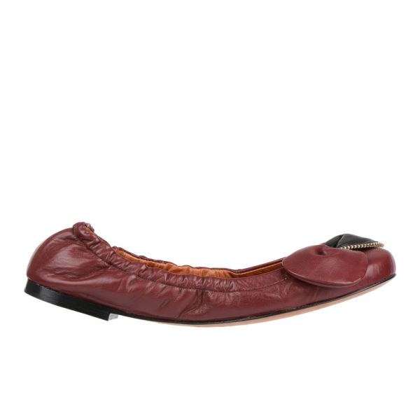 See by Chloe Women's Clara Leather Ballet Pumps - Wine