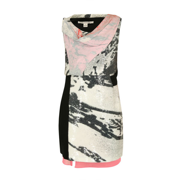 Diane von Furstenberg Women's Rendezvous Dress - Grey and Pink