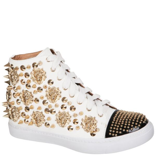 Jeffrey Campbell Women's Adams Lion Trainers - White