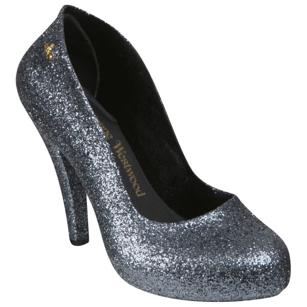 Vivienne Westwood for Melissa Women's Skyskraper Glitter Heels - Gun