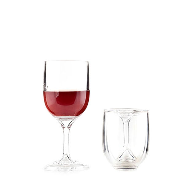 Portable wine glasses set of 2 gifts - Vinogo portable wine glass ...