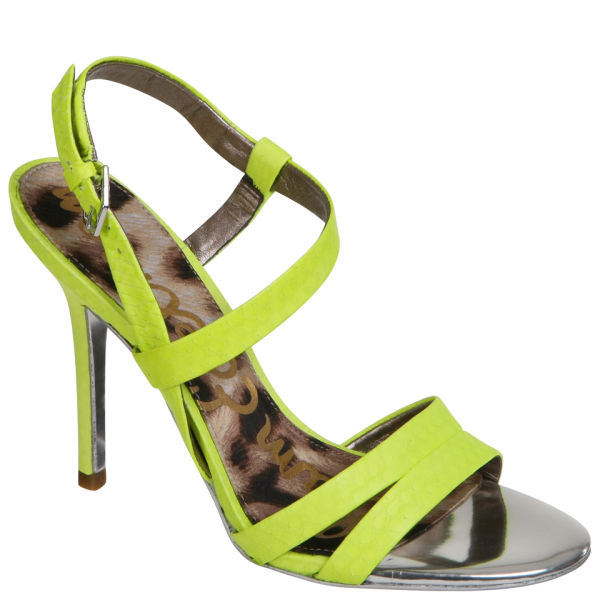 Sam Edelman Women's Abbott Neon Strappy Sandals - Lime