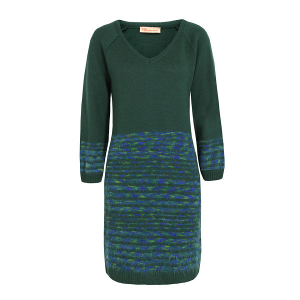 MW Matthew Williamson Women's 003 6008 Stripe Knit Dress - Teal
